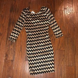 Black/gold dress. Forever 21. Size L. NWT.